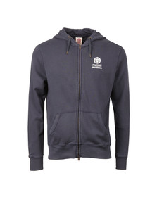 Franklin & Marshall Mens Blue Printed Small Logo Full Zip Hoody
