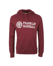 Franklin & Marshall Mens Red Large Logo Overhead Hoody