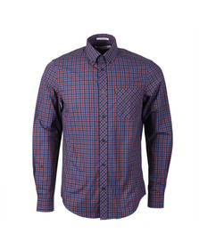 Ben Sherman Mens Blue House Mod L/S Shirt