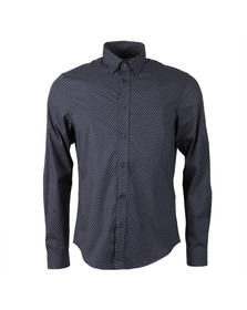 Ben Sherman Mens Blue Micro Paisley L/S Shirt