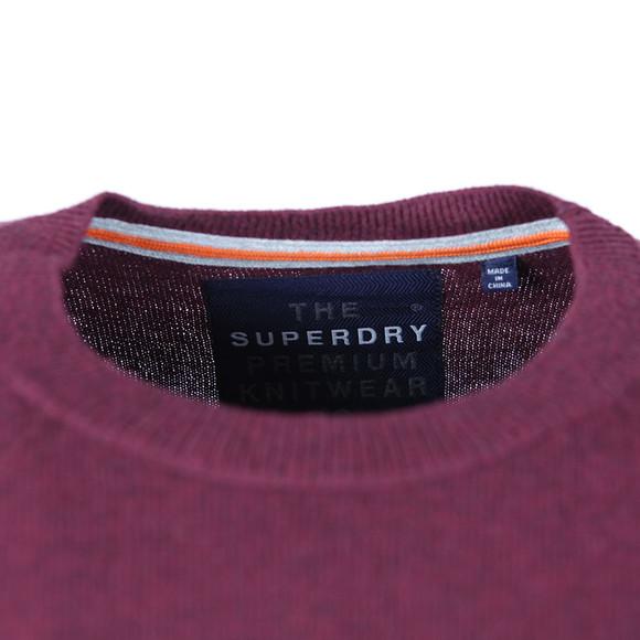 Superdry Mens Purple Orange Label Crew Jumper main image