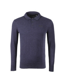 Superdry Mens Blue L/S Knitted Polo