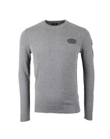 Diesel Mens Grey K-Nummule Knitted Jumper