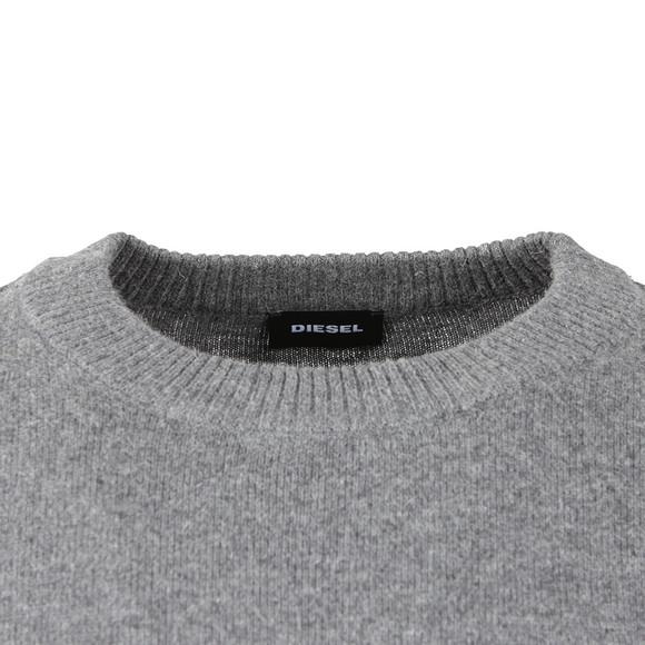 Diesel Mens Grey K-Nummule Knitted Jumper main image