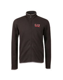 EA7 Emporio Armani Mens Black Full Zip Logo Track Top