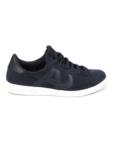 Armani Jeans Mens Blue Low Cut Sneaker