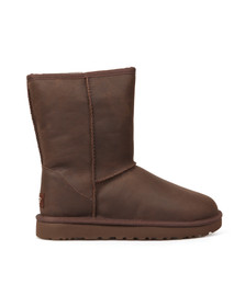 Ugg Womens Brown Classic Brownstone Short Leather Boot