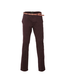 Scotch & Soda Mens Purple Chino In Stretch Cotton