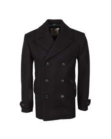 Ben Sherman Mens Blue Melton Peacoat