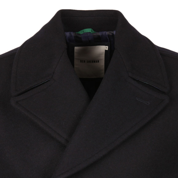 Ben Sherman Mens Blue Melton Peacoat main image