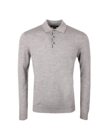 Aquascutum Mens Grey Charlton CC Knitted Polo Shirt