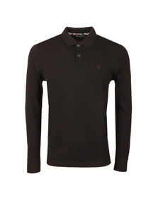 Aquascutum Mens Black Hilton Long Sleeve Polo Shirt