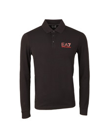 EA7 Emporio Armani Mens Black 6XPF67 Long Sleeve Polo Shirt