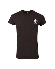 Gym king Mens Black Cap Sleeve Tee