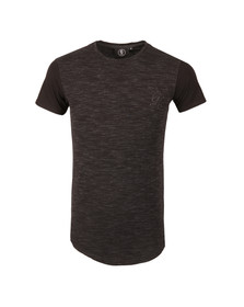 Gym king Mens Black Short Sleeve Contrast Fitted Tee