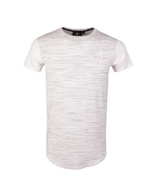 Gym king Mens White Short Sleeve Contrast Fitted Tee