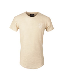 Sik Silk Mens Beige Flannel Curved Hem T Shirt