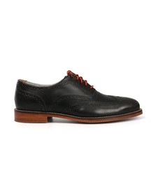 J Shoes Mens Black Charlie Black Brogue