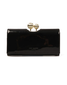 Ted Baker Womens Black Kimmiko Etched Bobble Patent Matinee Purse