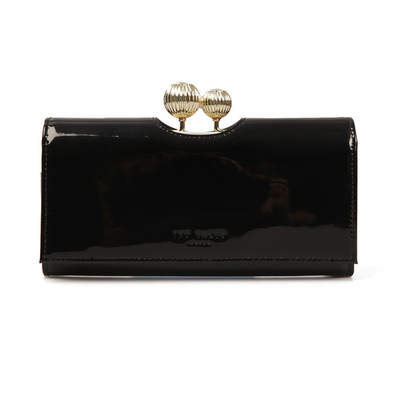 Ted Baker Womens Black Kimmiko Etched Bobble Patent Matinee Purse main image