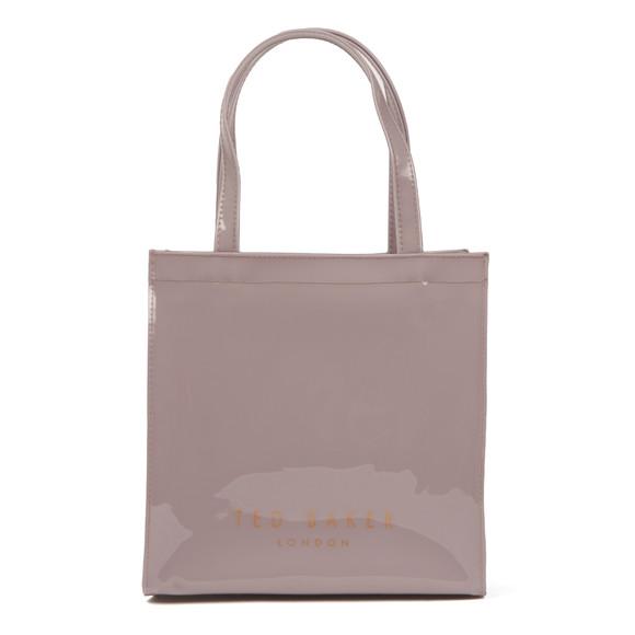 Ted Baker Womens Purple Minacon Colourblock Bow Small Icon Bag main image