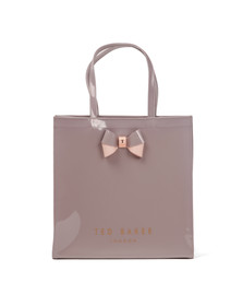 Ted Baker Womens Purple Elacon Colour Block Bow Large Icon Bag