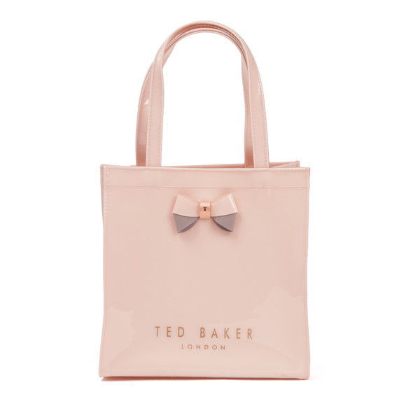 Ted Baker Womens Pink Minacon Colourblock Bow Small Icon Bag main image