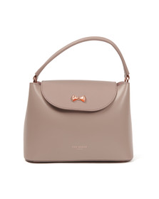 Ted Baker Womens Purple Adalee Micro Bow Top Handle Small Tote