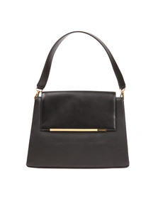 Ted Baker Womens Black Fionah Folded Edge Detail Shoulder Bag
