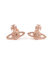 Vivienne Westwood Womens Pink Grace Bas Relief Stud Earring