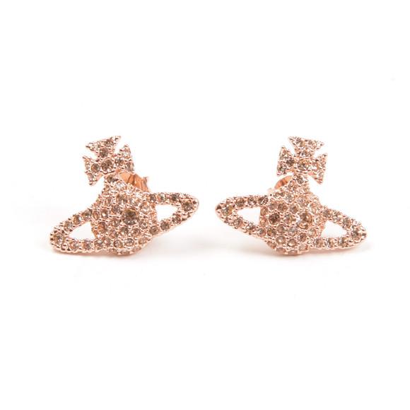 Vivienne Westwood Womens Pink Grace Bas Relief Stud Earring main image