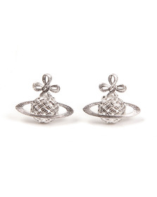 Vivienne Westwood Womens Silver Simone Bas Relief Earrings