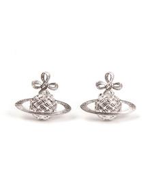 Vivienne Westwood Womens Silver Simone Bas Relief Earrings