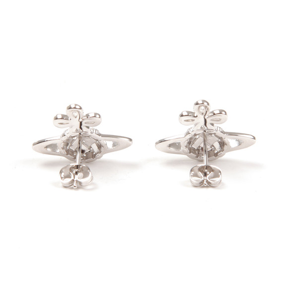 Vivienne Westwood Womens Silver Simone Bas Relief Earrings main image