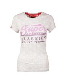 Superdry Womens Grey Classics AOP T Shirt