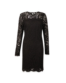 Michael Kors Womens Black Scallop Lace Dress
