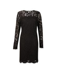 Michael Kors Womens Black Scallop Lace Dress