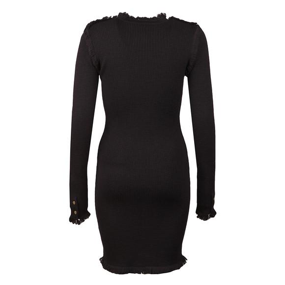 Michael Kors Womens Blue Long Sleeve Fine Fringe Dress main image