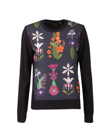 Ted Baker Womens Blue Nantise Horticultural Woven Jumper