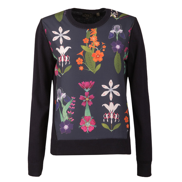 Ted Baker Womens Blue Nantise Horticultural Woven Jumper main image
