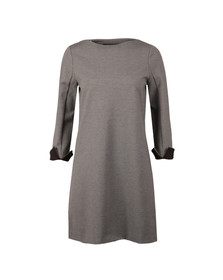French Connection Womens Grey Lula Tiff Slash Neck Dress