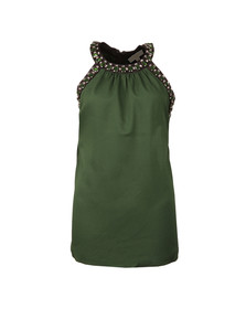 Michael Kors Womens Green Jewel Detail Top