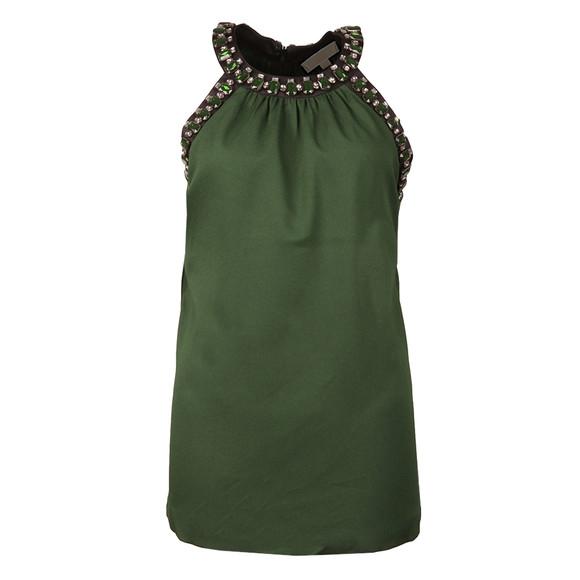 Michael Kors Womens Green Jewel Detail Top main image