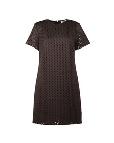 Michael Kors Womens Black Laser Cut Dress