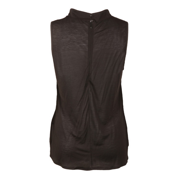 French Connection Womens Black Crepe Light Mock Neck Top main image