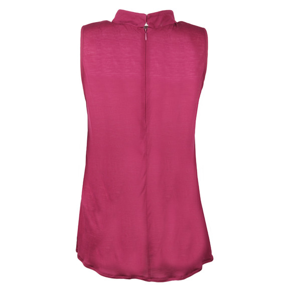 French Connection Womens Pink Crepe Light Mock Neck Top main image