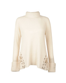 French Connection Womens Off-white Freedom Fringe Jumper