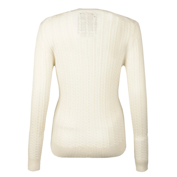 Superdry Womens Off-white Luxe Mini Cable Knit main image