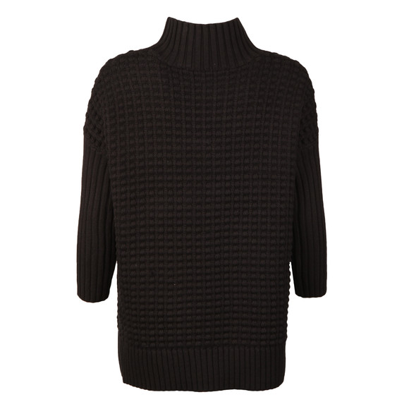 French Connection Womens Black Mozart Ripple High Neck Jumper main image