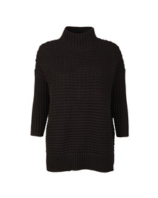 French Connection Womens Black Mozart Ripple High Neck Jumper